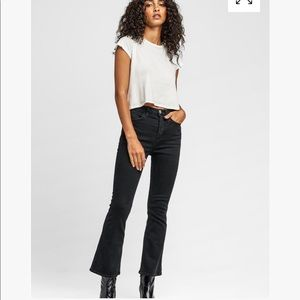 Hudson Vintage Holly High Rise Cropped Flare Jean